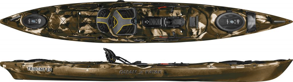 trident 15 angler ocean kayak paddel store