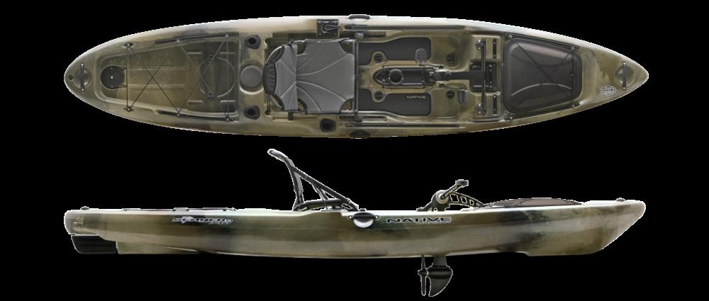 Slayer 13 propel hidden oak native watercraft paddel store for Native fishing kayak